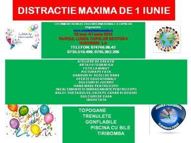 De 1 iunie ne distram in Parcul Lumea Copiilor!