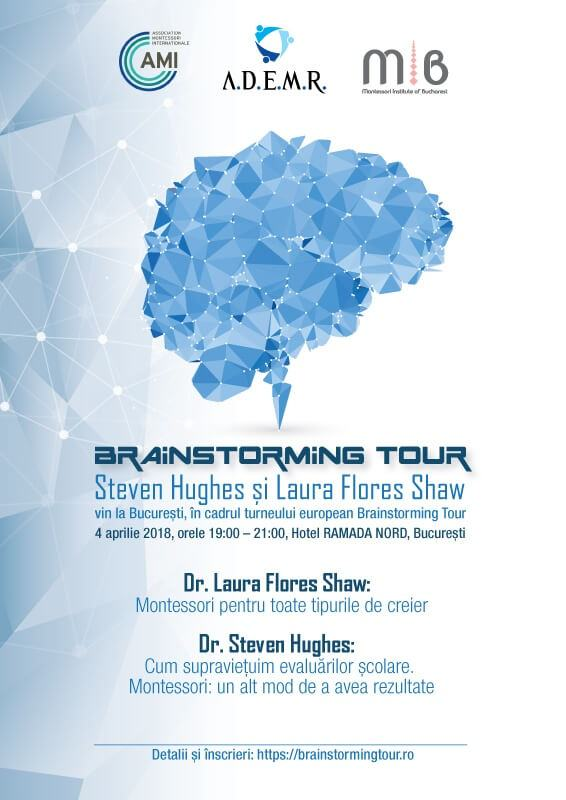 Dr Steve Hughes si Dr Laura Flores Shaw vin in Romania, in cadrul turnelului european Brainstorming Tour