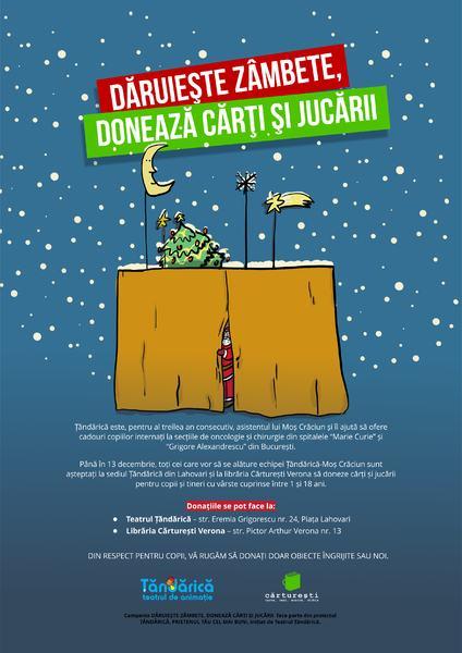 Teatrul Tandarica continua Campania Daruieste Zambete, Doneaza Carti Si Jucarii