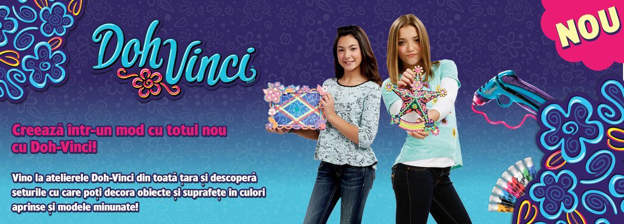 Ateliere creative in Baneasa Shopping City cu  Doh Vinci - un nou mod de a crea, de la Hasbro!