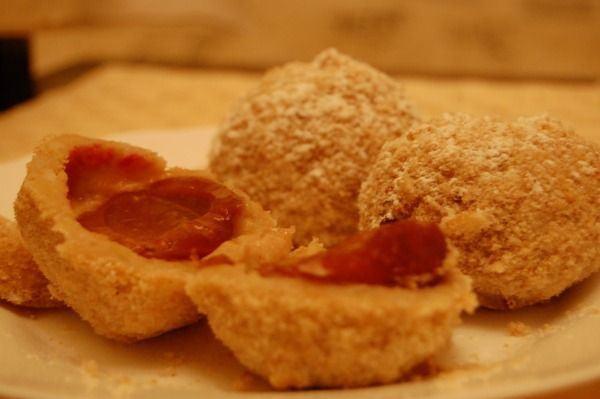 Galuste de cartofi cu prune