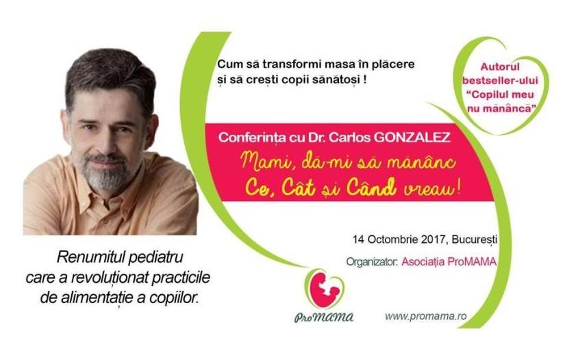 Conferinta Dr Carlos Gonzalez la Bucuresti Cum sa faci mesele placute si sa cresti copii sanatosi