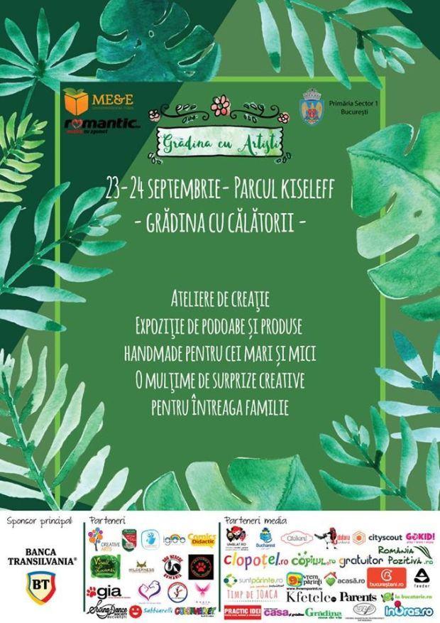 Editia de toamna Gradina cu Artisti va asteapta intre 23 - 24 septembrie, in Parcul Kiseleff