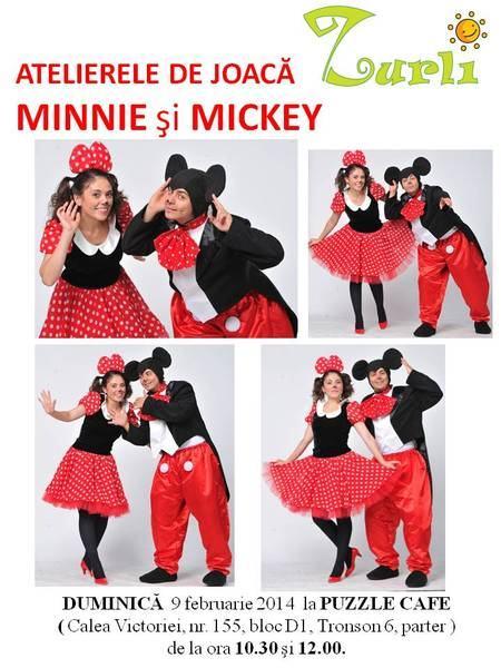 La atelierele de joaca Zurli ne jucam de-a Minnie si Mickey si invatam sa pictam!