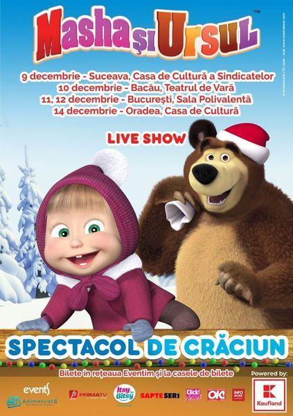 Au ramas cateva zile pana la turneul national Masha si Ursul ce va include Suceava, Bacau, Bucuresti si Oradea