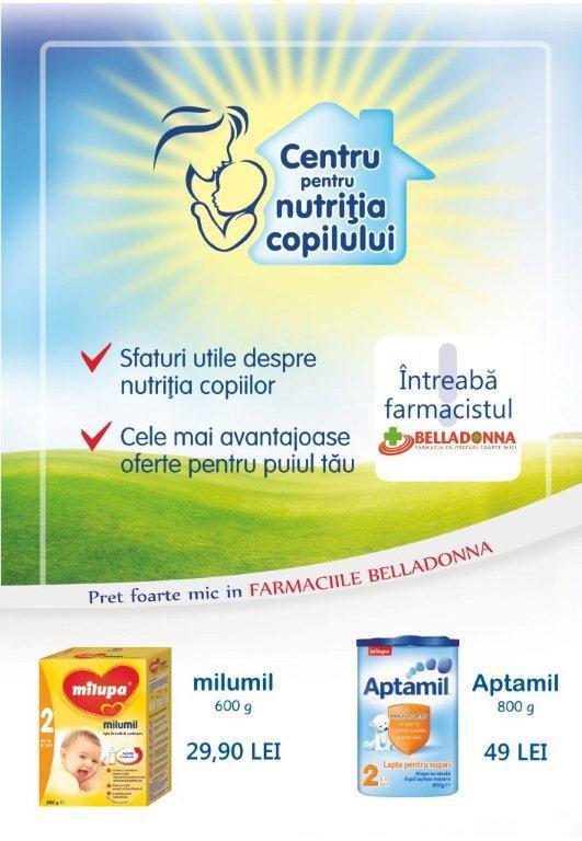 Centrul Pentru Nutritia Copilului In Farmaciile Belladonna