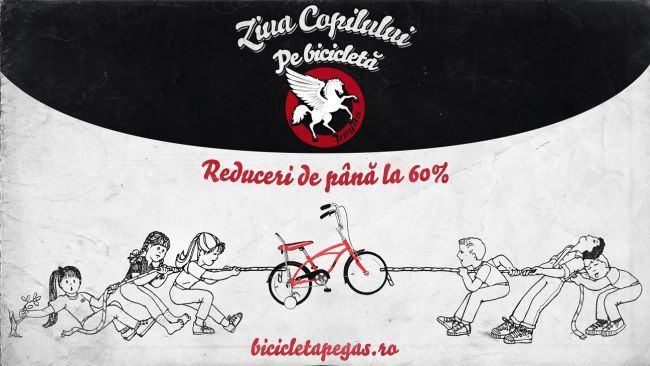 Biciclete copii cu reduceri de pana la 60% doar la Pegas