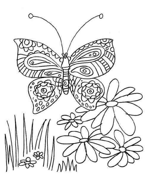 Primavara in planse de colorat
