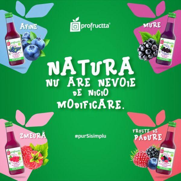 Profructta, producatorul roman de sucuri 100% naturale, din Campulung Muscel lanseaza gama de sucuri certificate ecologic