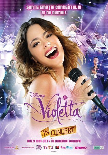 Surpriza pentru fanii Violettei: filmul Violetta in Concert vine in Romania!