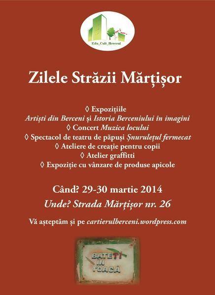 Zilele Strazii Martisor, 29-30 martie 2014
