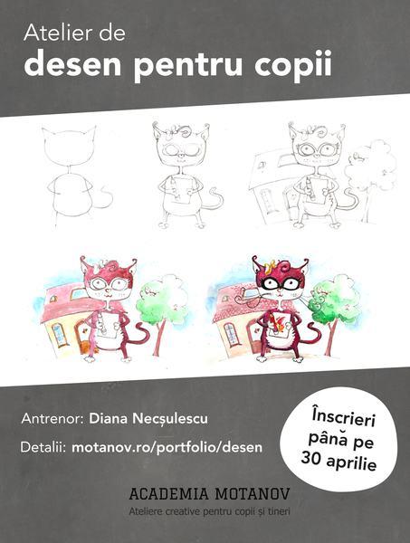 Ultimele 3 zile de inscrieri la atelierul de desen pentru copii centrat pe personaj