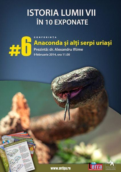 Descopera  Anaconda si alti serpi uriasi