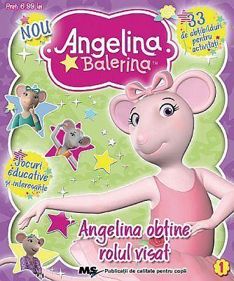 Carticele de activitati cu abtibilduri Angelina Balerina