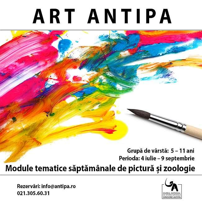 Art Antipa - Atelier de desen si pictura, 4 iulie - 9 septembrie 2016