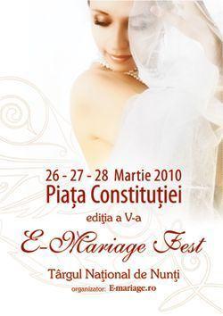 E-Mariage Fest, targul national de nunti