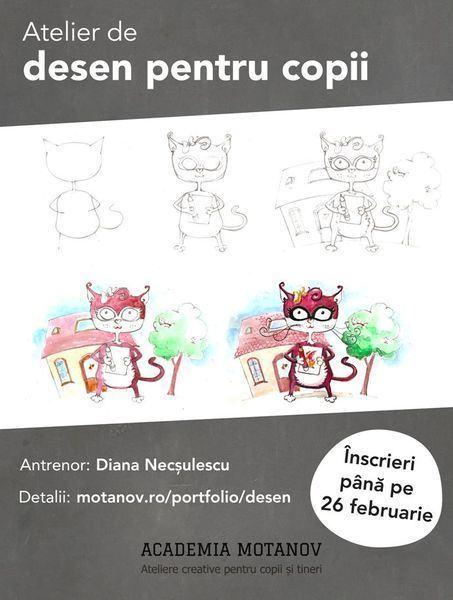 Cum pot invata copiii sa deseneze - atelier de desen