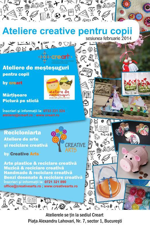 Ateliere de dezvoltare a creativitatii copiilor