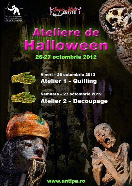 Ateliere de Halloween, Muzeul Antipa, 26 - 27 octombrie 2012
