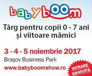 Baby Boom Show ajunge la Brasov intre 3-5 noiembrie 2017