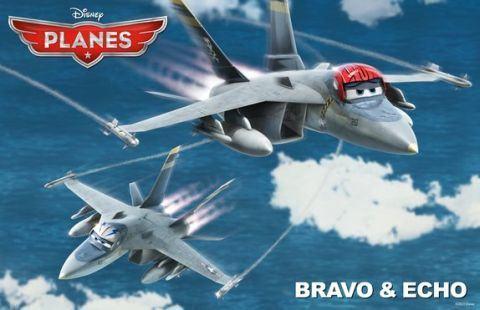 Planes (Avioane): Bravo & Echo, formidabilele avioane de cursa
