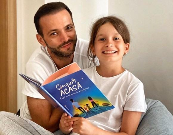 Mihai Morar, cel mai fericit tatic. Fiica sa Cezara a devenit scriitoare la 11 ani!