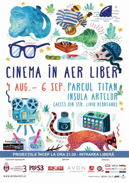 Divertisment: Cinema in aer liber in parcul Titan din Bucuresti
