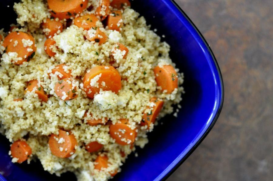 Cuscus cu sos de morcovi