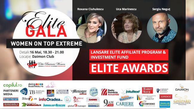 ELITE Business Women, cea mai mare companie de antreprenoriat feminin va invita la Gala - Women On Top Extreme