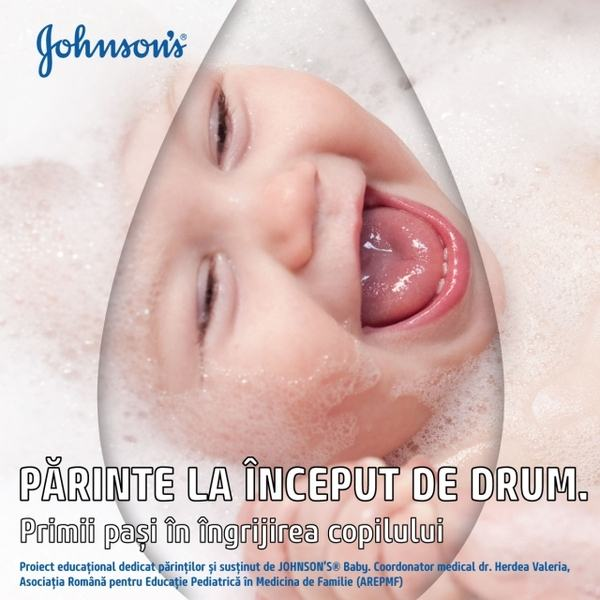 JOHNSON'S Baby lanseaza in Romania un ebook despre igiena si ingrijirea copiilor cu varsta de la 0 la 3 ani