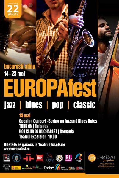 Concerte EUROPAfest la Teatrul EXCELSIOR din Bucuresti