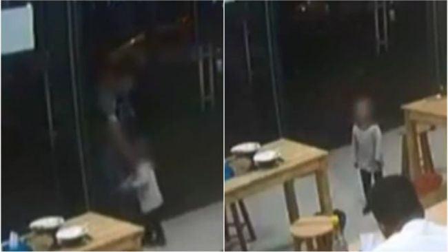 Video.Si-a lasat fiica de doi ani garantie la restaurant pentru ca nu avea bani sa plateasca consumatia