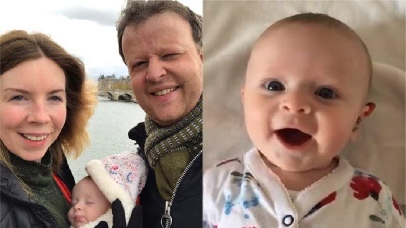VIDEO. Moment induiosator cu o fetita de patru luni care aude pentru prima data vocea mamei sale