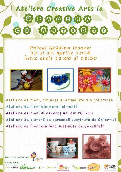 Creative Arts sustine ateliere pentru intreaga familie  la Gradina cu Artisti!
