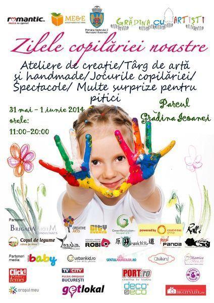 Copiii sunt sarbatoriti de 1 iunie in lumea magica din Gradina cu Artisti