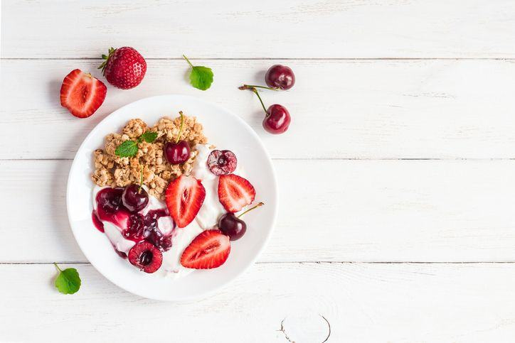 Hrisca cu fructe si branzica