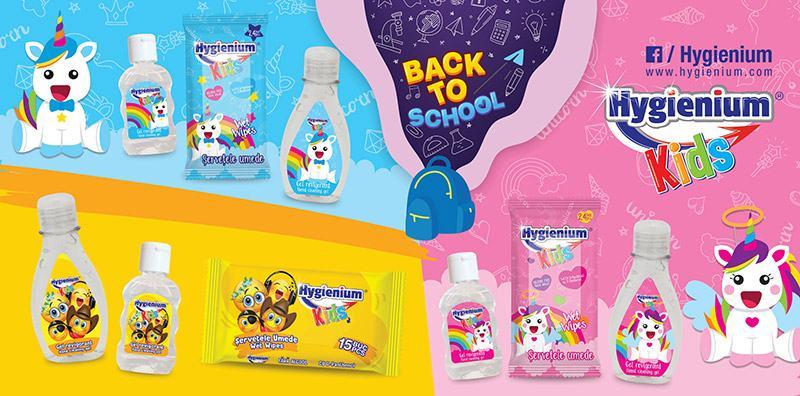 BACK TO SCHOOL! Invata in siguranta, cu Hygienium Kids in ghiozdan