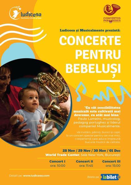 """Ludiceea prezinta: """"Concerte pentru bebelusi"""""""