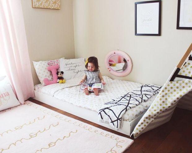 Beneficiile patului pe podea pentru copii