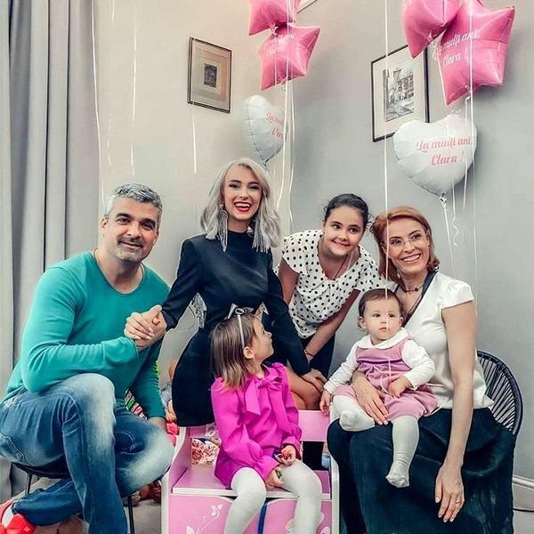 Andreea Balan i-a rupt turta fetitei. George Burcea nu a vrut sa apara in nicio poza