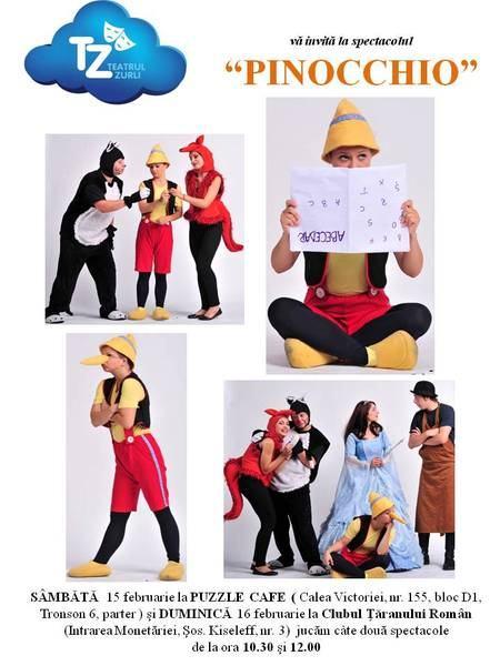 Povestea lui Pinocchio, spusa de actorii teatrului Zurli