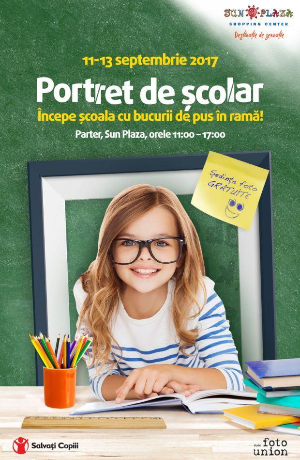 Sedinte foto profesionale gratuite pentru copii: Portret de scolar in Sun Plaza, in perioada 11-13 septembrie