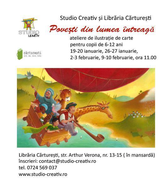 Povesti din lumea intreaga, ateliere de ilustratie de carte!