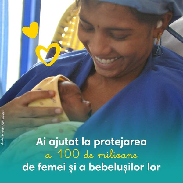 Pampers si Unicef