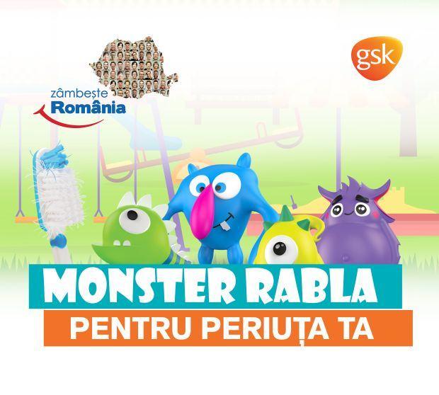 Caravana Monster Rabla - pentru periuta de dinti ajunge in sase orase din tara