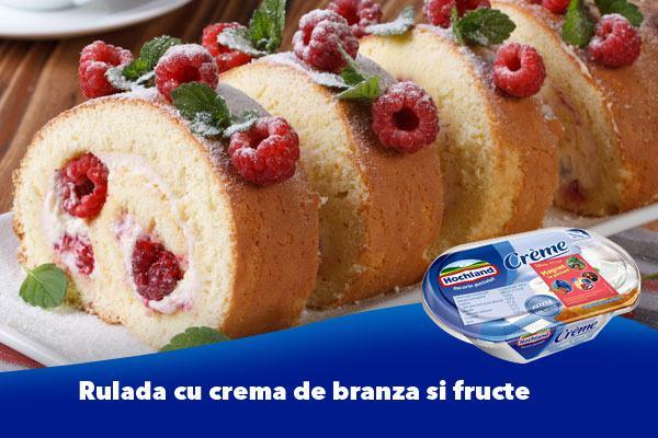 Rulada cu crema de branza si fructe