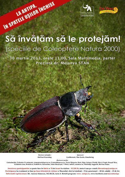 Conferinta: Sa invatam sa le protejam! (speciile de Coleoptere Natura 2000)