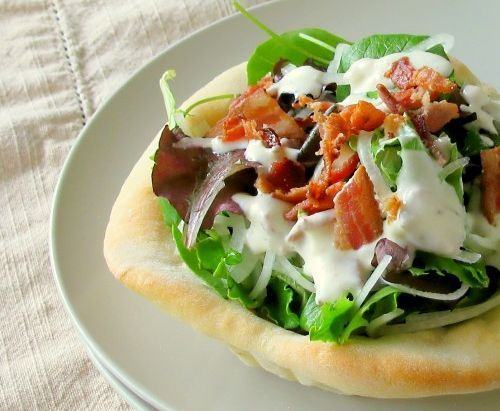Salata de legume si bacon afumat