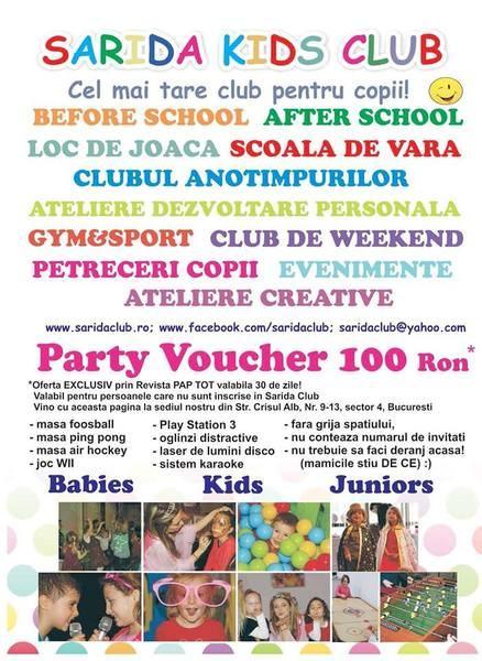 Scoala de vara Sarida Kids Club