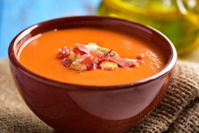 Supa de rosii cu carne de manzat